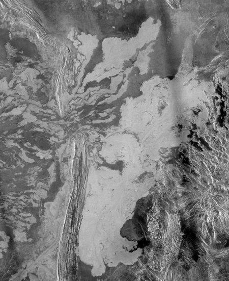 Потоки лавы на Венере